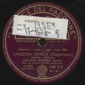 Canzoni sarda (Meridionale)