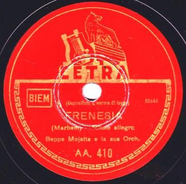Orchestra Mojetta Beppe Frenesia cover