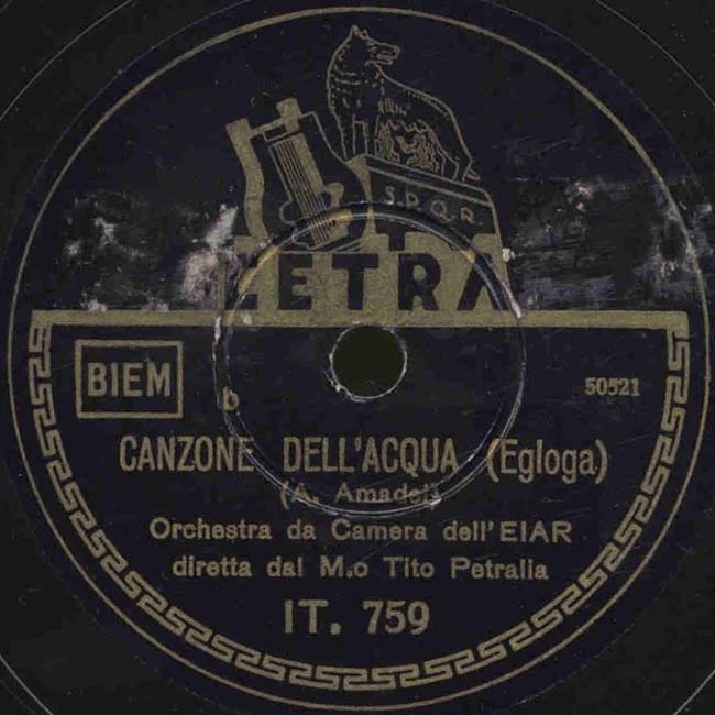 Canzone Dellacqua