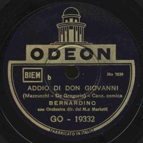 Addio di Don Giovanni