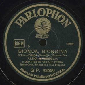 Bionda, Biondina cover