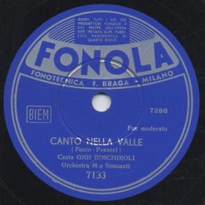 Canto nella valle