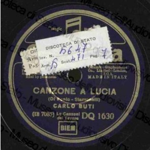 Canzone A Lucia 1935 cover
