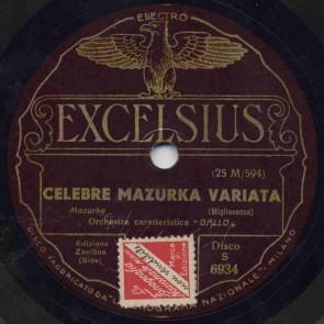 Celebre mazurka variata
