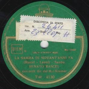 La samba di novant'anni fa'