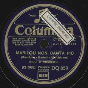 Marilou non canta piu'