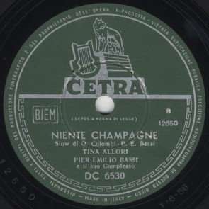 Niente champagne