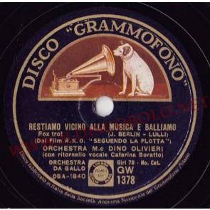 Restiamo Vicini Alla Musica (Let's Face The Music And Dance) cover