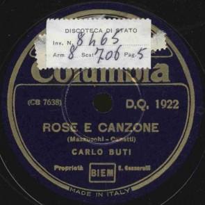 Rose e canzone