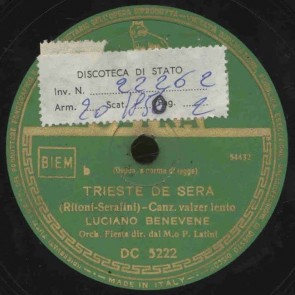 Trieste De Sera cover