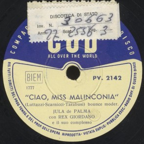 Ciao, miss malinconia