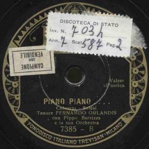 Piano piano...