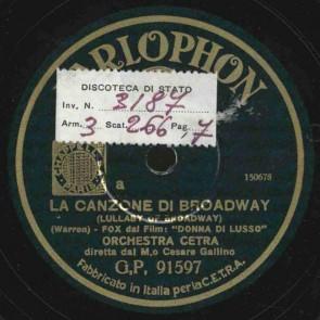 La canzone di Broadway