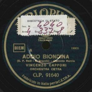 Addio biondina
