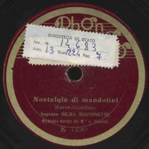 Nostalgia di mandolini