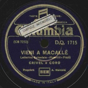 Vieni a Macalle'