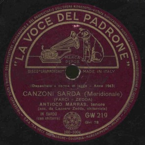 Canzoni sarda (Cagliaritana)
